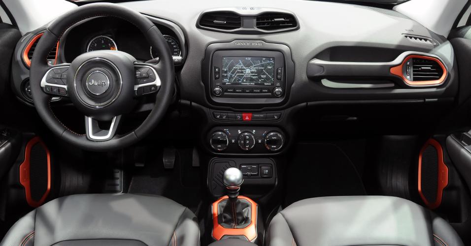 Novo Jeep Renegade 2016 - Acabamento Interno e itens de série