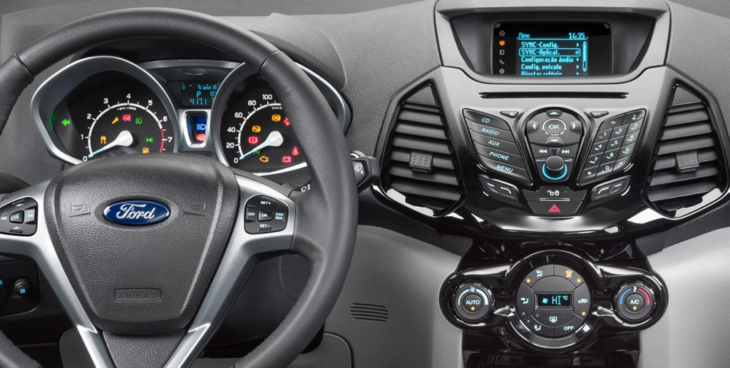 Ford Ecosport 2017 - painel, volante