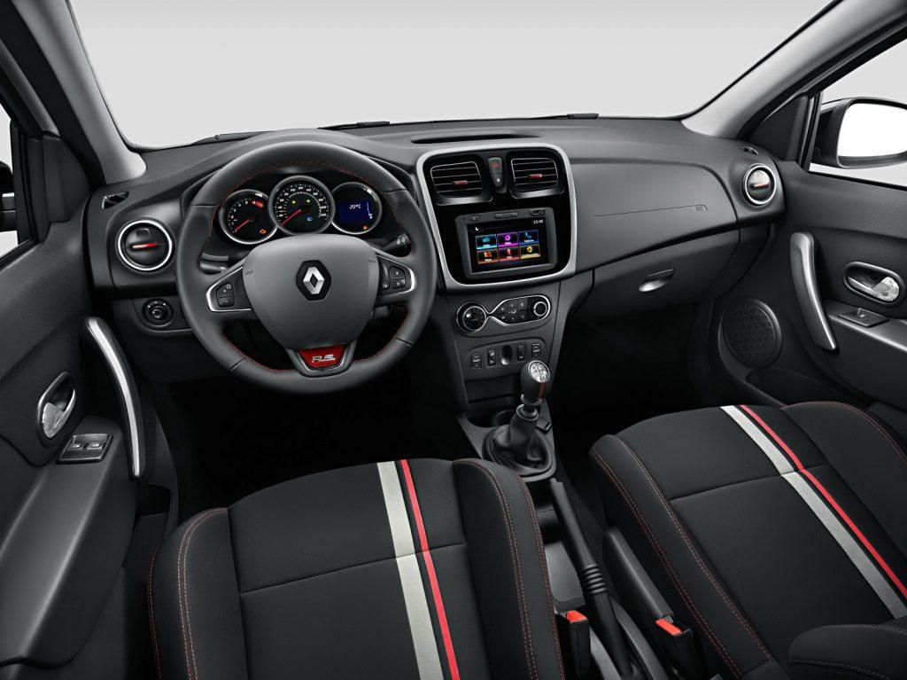 Nova Sandero 2017 - painel, volante multimídia, ar condicionado