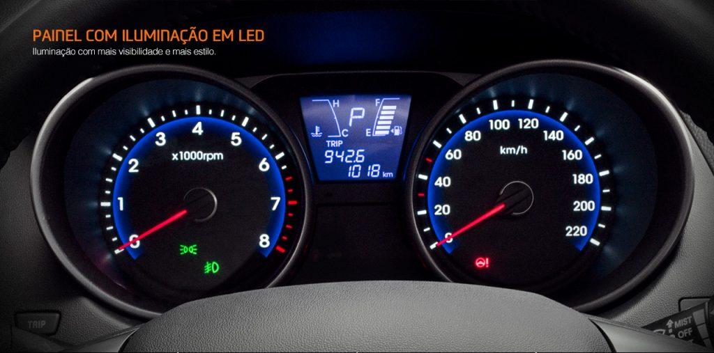 Hyundai Ix35 2017 - painel de led